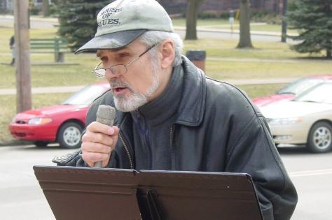 Randy Shannon at Peace Rally