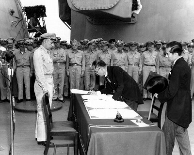 Japan Surrenders to Allied Forces 1945