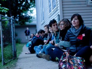 Sit-in to protect home from foreclosure