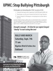 Sept 7 UPMC Rally and March - For Labor with Location