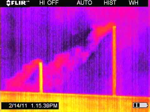 Gas compressor station emissions are visible using FLIR camera technology.