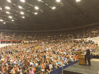 Sen. Bernie Sanders speaks to 10,000 supporters at July 1st Rally in Madison, WI